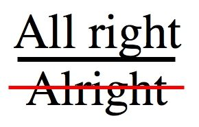 All Right Is Not Alright