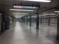 Empty New York Subway